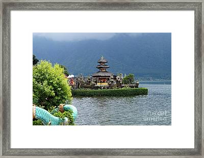 Water Temple Pagoda Framed Print