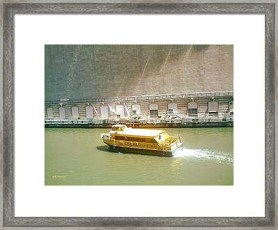 Framed Print featuring the pyrography Water Texi by Elly Potamianos