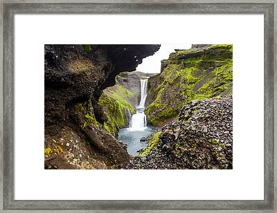 Water Through Lava Framed Print