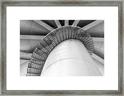Water Tower Stairs Framed Print