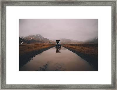 Water Tracks Framed Print