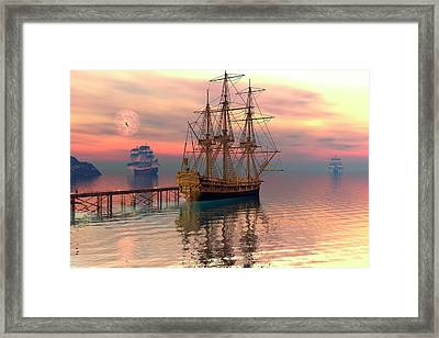 Water Traffic Framed Print by Claude McCoy