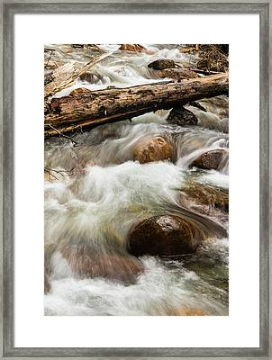 Framed Print featuring the photograph Water Under The Bridge by Alex Lapidus