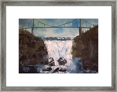 Water Under The Bridge Framed Print by Campbell Dickison
