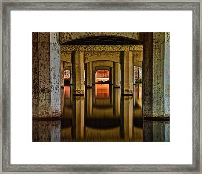 Water Under The Bridge Framed Print by Frozen in Time Fine Art Photography
