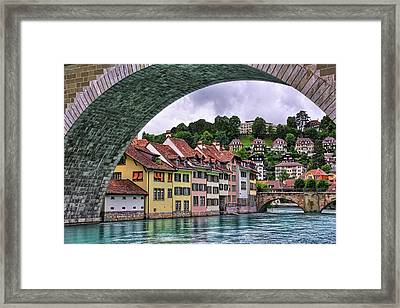 Water Under The Bridge In Bern Switzerland Framed Print
