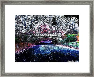 Water Under The Bridge Framed Print by Iowan Stone-Flowers