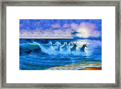 Water Unicorns - Da Framed Print