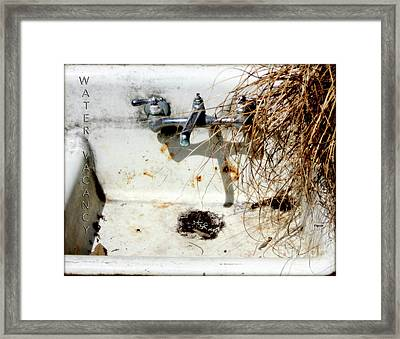 Water Vacancy  Framed Print by Steven Digman
