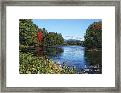 Framed Print featuring the photograph Water View In New Hampshire by Gina Cormier