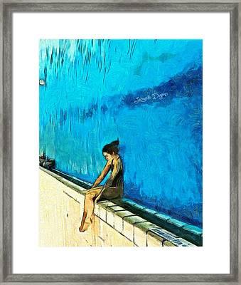 Water Wall - Da Framed Print by Leonardo Digenio