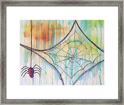 Water Web Framed Print