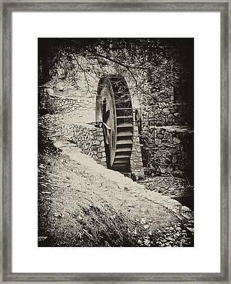 Water Wheel Framed Print by Bill Cannon