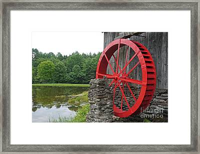 Water Wheel Vermont Framed Print