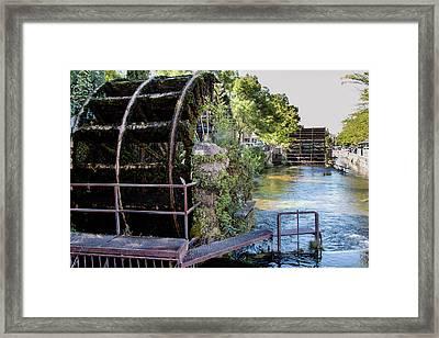 Water Wheels Framed Print