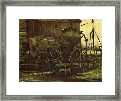 Water Wheels Of Mill At Gennep, 1884 Framed Print