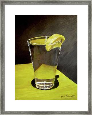 Water With A Lemon...please Framed Print