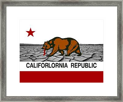 Water Woes California Framed Print by Daniel Hagerman