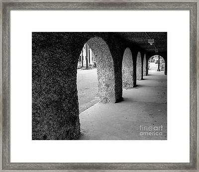 Water Works Arches Framed Print by Jeffrey Miklush