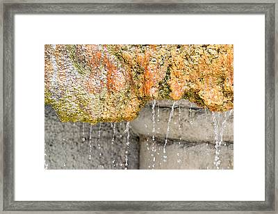 Water-worn Fountain Framed Print by Bill Mock