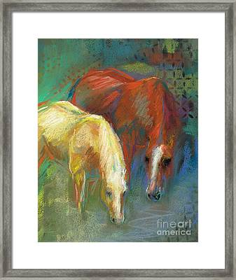 Framed Print featuring the painting Waterbreak by Frances Marino