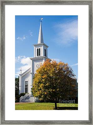 Waterbury Congregational Church, Ucc Framed Print