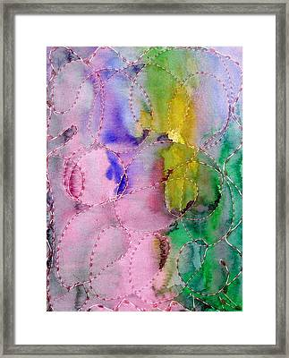 Watercolor And Glue  Framed Print by Margie  Byrne