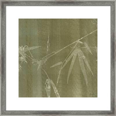 Watercolor Bamboo 01 Framed Print