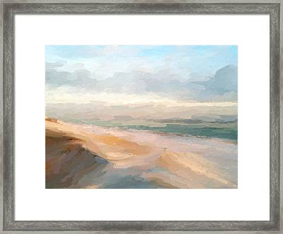 Watercolor Beach Abstract Framed Print