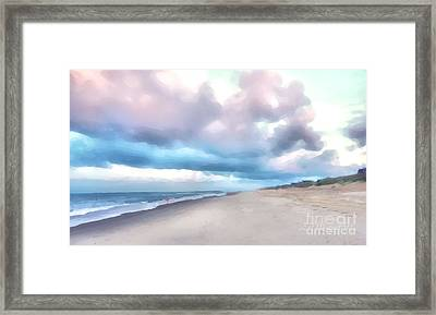 Watercolor Beach Framed Print