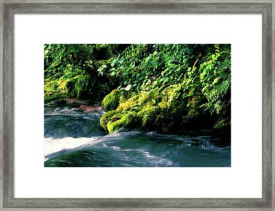 Watercolor Big Spring 2119 W_2 Framed Print