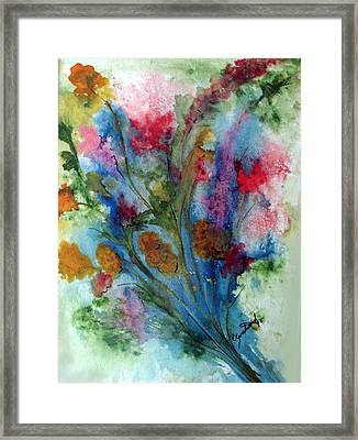 Watercolor Bouquet Framed Print by Carol Sweetwood