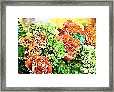 Watercolor Bouquet Framed Print