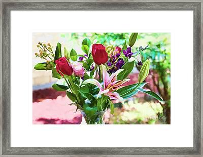 Watercolor Bouquet Framed Print