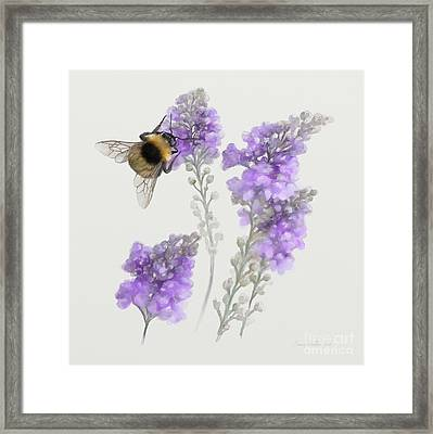 Framed Print featuring the painting Watercolor Bumble Bee by Ivana Westin