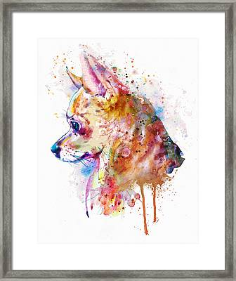 Watercolor Chihuahua  Framed Print