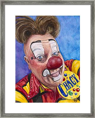 Watercolor Clown #21 Eugenio Adorno Espinell Framed Print by Patty Vicknair