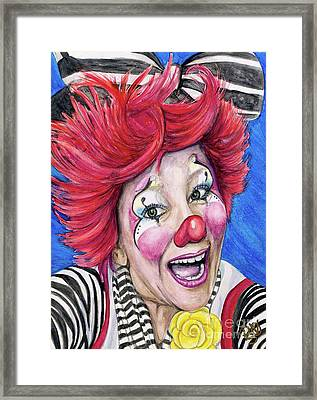 Watercolor Clown #24 Kelly Lynn Diehl Framed Print by Patty Vicknair