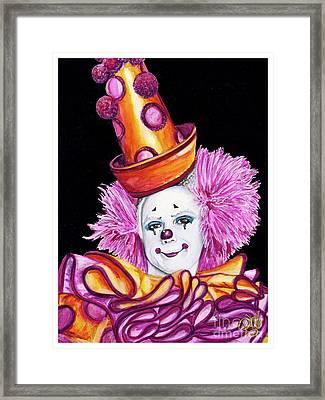 Watercolor Clown #26 Victor Ruiz Framed Print by Patty Vicknair