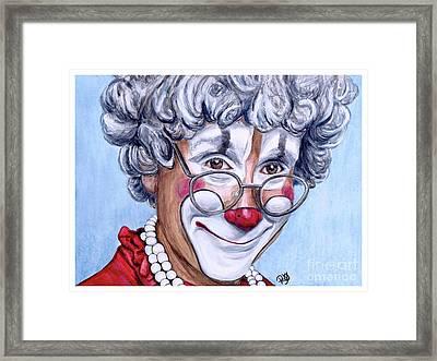 Watercolor Clown #27 Barry Lubin Framed Print