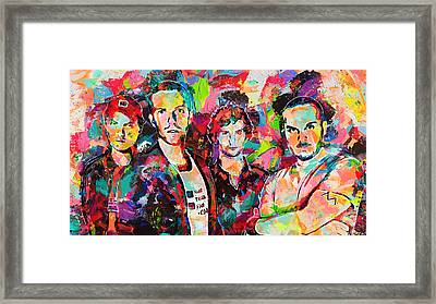 Watercolor Coldplay Framed Print