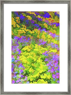 Watercolor Colorful Garden Framed Print