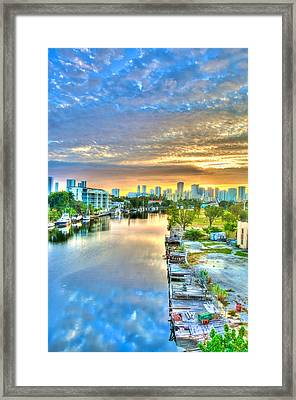 Watercolor Dawn Framed Print by William Wetmore