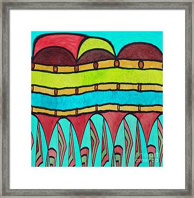 Watercolor Design Framed Print by Norma Appleton