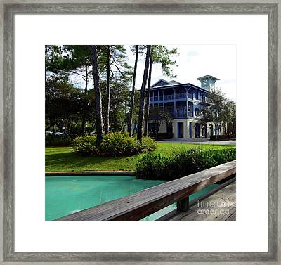 Watercolor Florida Framed Print by Megan Cohen