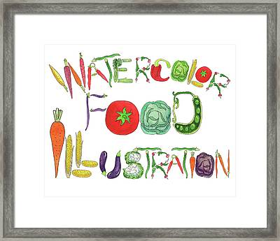 Framed Print featuring the painting Watercolor Food Illustration  by Irina Sztukowski