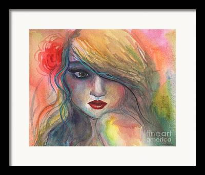 Face Of A Woman Framed Prints