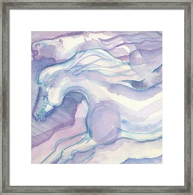 Watercolor Horses II Framed Print by Linda Kay Thomas