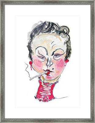 The Smoker Framed Print by Marian Voicu