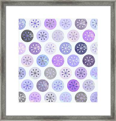 Watercolor Lovely Pattern II Framed Print by Amir Faysal